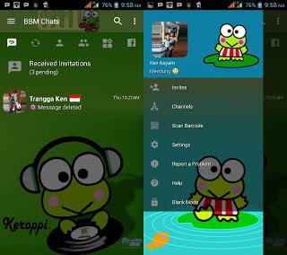 BBM Mod Keroppi v3.2.5.12 Apk Terbaru