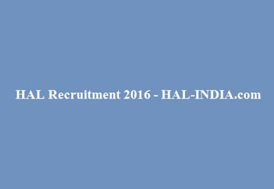 HAL Recruitment 2016
