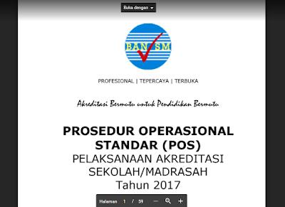 Instrumen dan POS Akreditasi Sekolah/Madrasah Tahun 2017