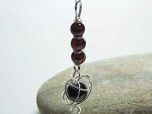 Garnet handmade silver jewellery
