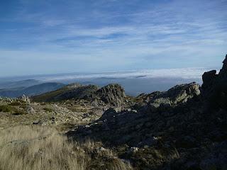 Mar de nubes. Sierra del Alto Rey
