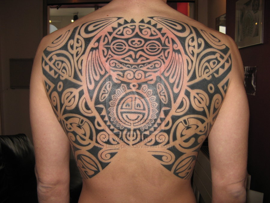 polynesian tattoo by pink by tattoopink
