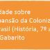 Atividade sobre A Expansão da Colonização no Brasil (História, 7º ano) com Gabarito