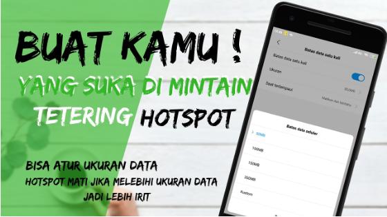 Cara Membatasi Penggunaan Hotspot Smartphone Android