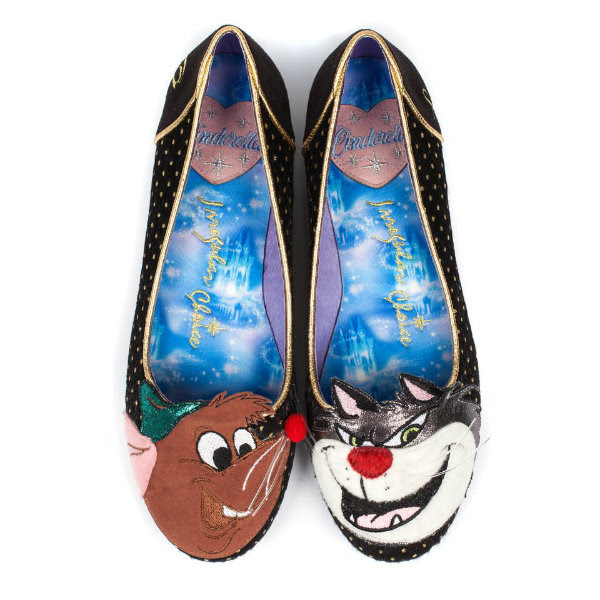 top view Cinderella Teaser Irregular Choice Lucifer & Gus