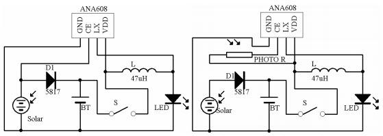 HomeMade DIY HowTo Make: ANA608 Solar Charge and LED