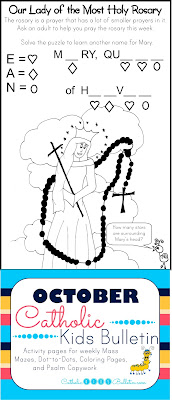 Our Lady of the Holy Rosary Coloring Page