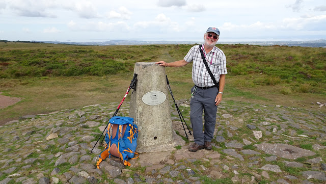 My friend Mike on Beacon Batch, highest point of the Mendip Hills, taken on my Land's End to John O'Groats hike 2018