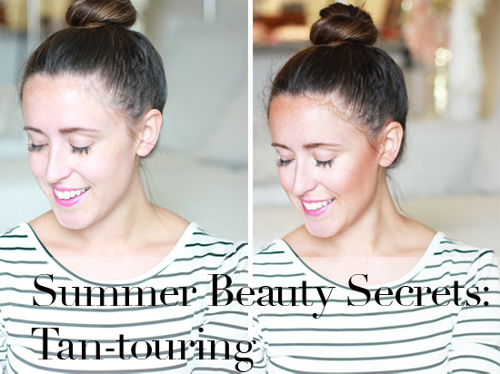How to tantour - contouring with sunless tanner