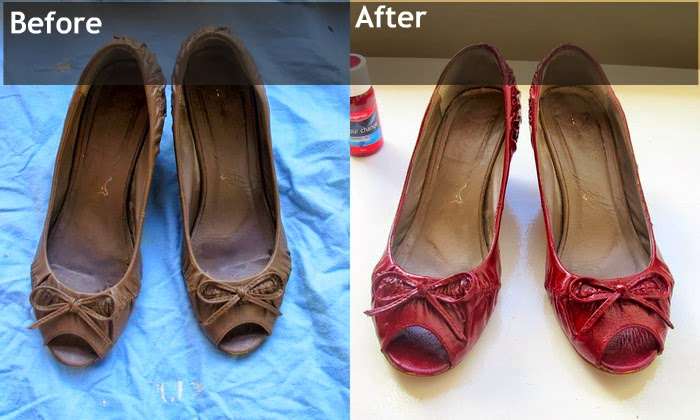 5a024754a1ba82 Change the colour of your shoes on the cheap with some leather dye ...