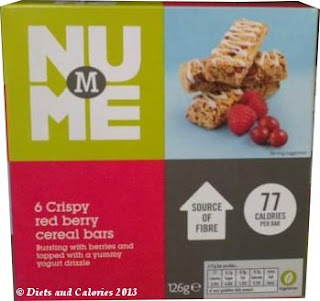Morrisons NuMe Crispy Red Berry Cereal Bars