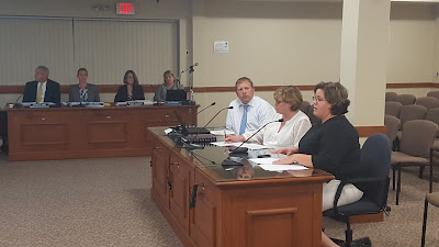 middle school principals presenting the school improvement  plans to the School Committee (not shown in photo)