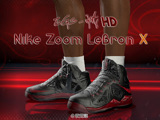 NBA 2K13 LeBron James Shoes Patch - Nike Zoom Lebron X 10
