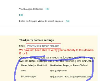 HOW TO SETUP LINK DOMAINKING DOMAIN TO BLOGSPOT BLOG