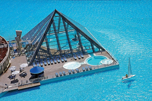 kolam renang terbesar di dunia di San Alfonso Del Mar, World's Largest Swimming Pool San Alfonso Del Mar, kolam renang buatan manusia air laut, San Alfonso Del Mar, kolam terbesar dan cantik di CHile