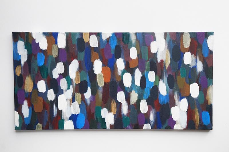 Bunte abstrakte Acryl-Malerei auf Leinwand | Tasteboykott