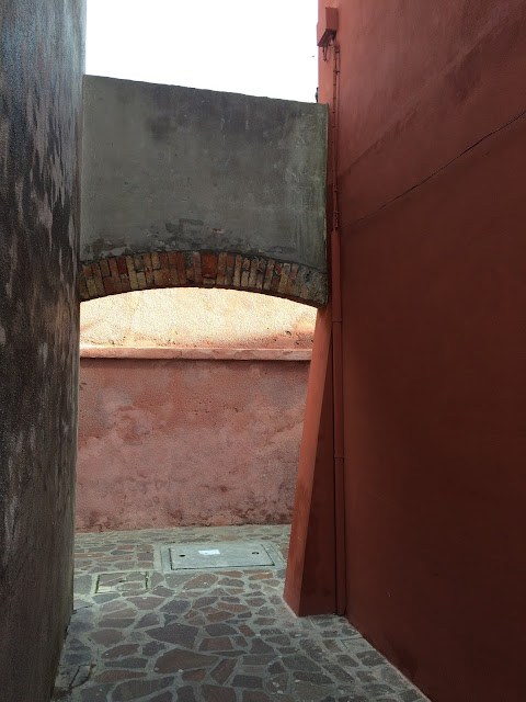 Arched Doorway in Burano Venice Italy