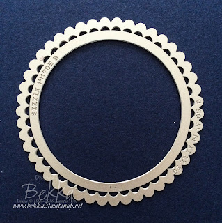 How to possition your Layering Circle Dies to create a neat ring every time - buy the layering circle dies from Stampin; Up! UK here