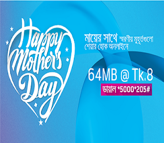 Grameenphone 64MB 2Days 8Tk On Mothers Day