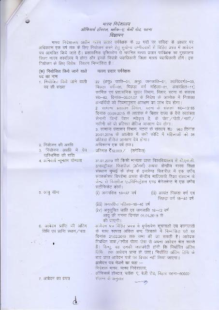 Fisheries Prison Supervisor Jobs in Patna