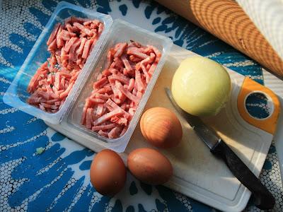 bacon oignon oeufs