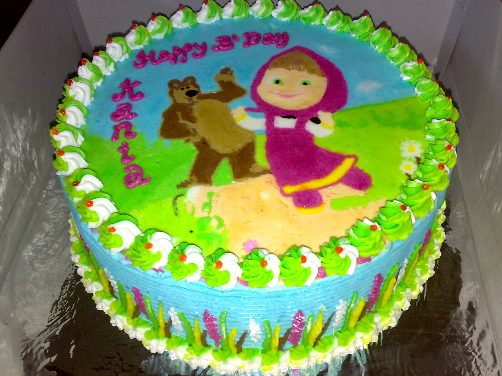 Cake Ulang Tahun Tema Marsha And The Bear
