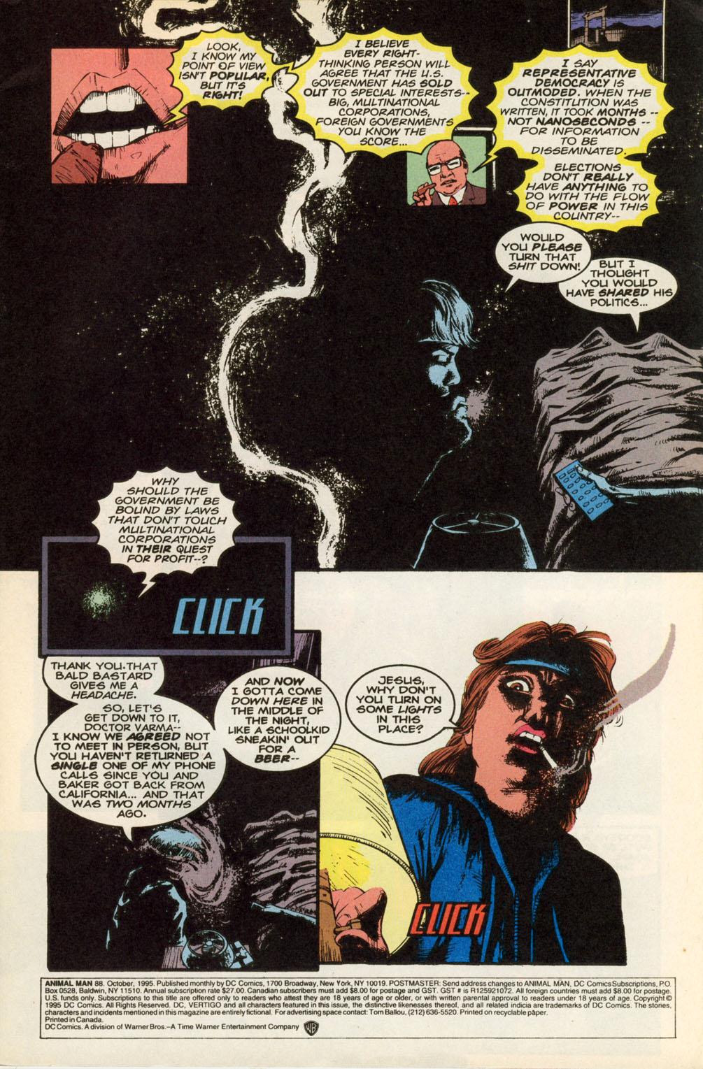 Read online Animal Man (1988) comic -  Issue #88 - 2