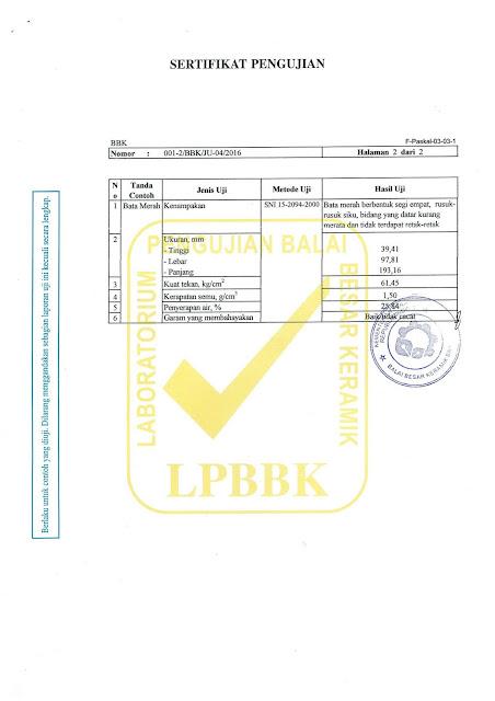 sertifikat bata merah