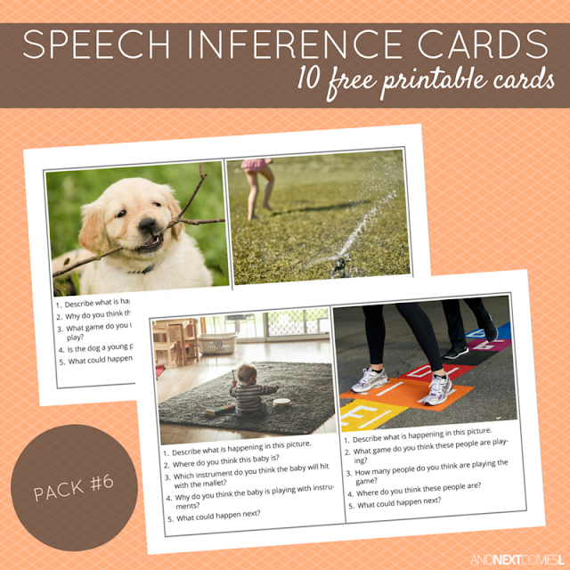 Printable speech inference cards