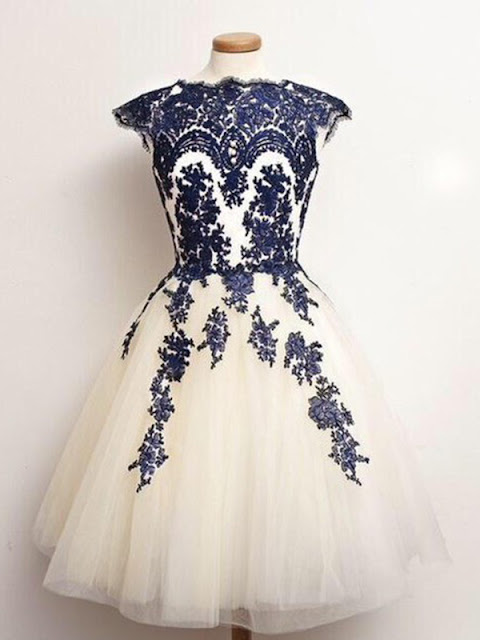 Bateau Knee-length Tulle Short Prom Dress