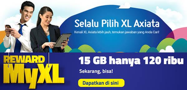 promo reward MyXL 15 GB cuma 120 ribu, cara dapatkan kuota gratis 15 GB dari XL