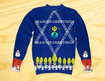 Jewish Christmas Sweater.The Ugly Sweater Eight Crazy Nights