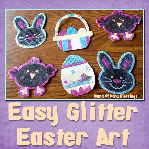 Glitter Easter Art