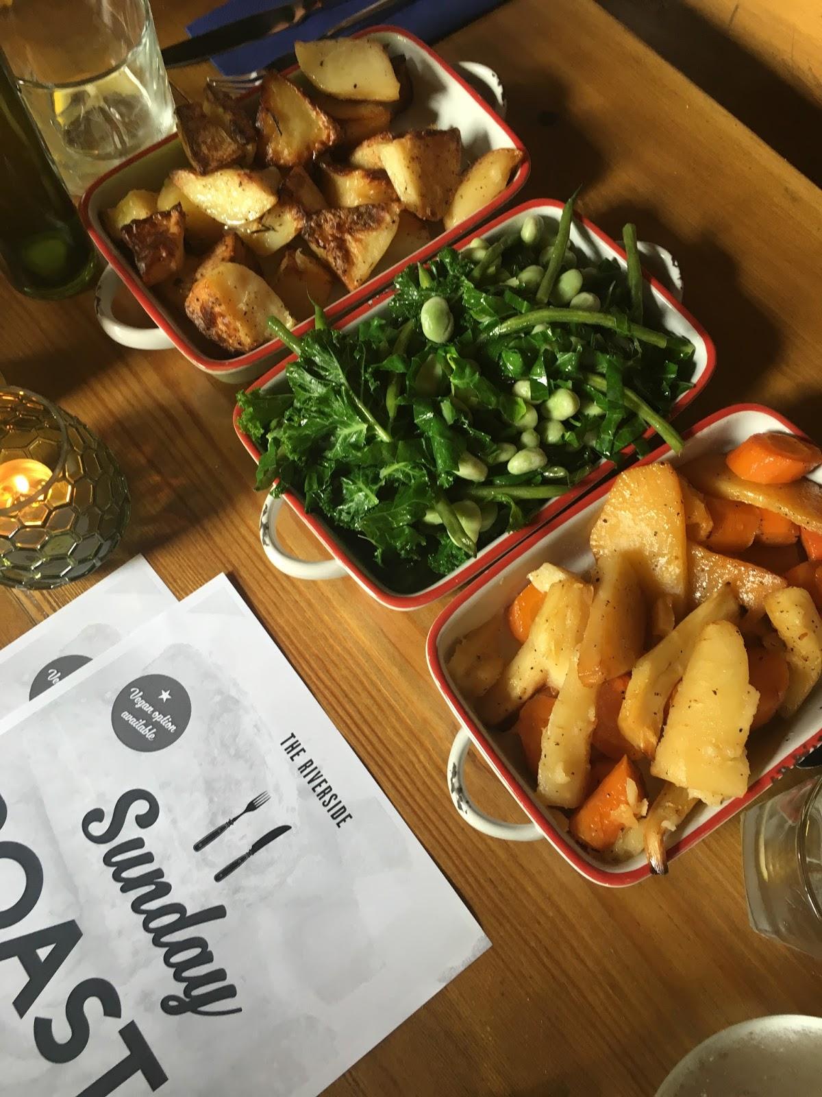 sweet allure the riverside sunday roast menu food lifestyle vegetables meat