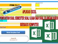 Aplikasi Excel latihan soal Ujian, semester dan ulangan harian berbasis komputer