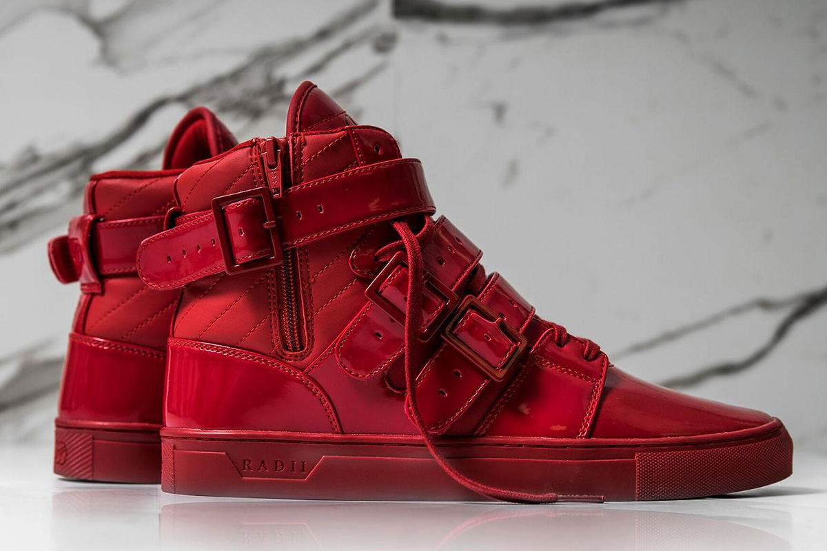 """e30b76e28fe40 Launching its signature """"Straight Jacket"""" sneaker in an exclusive holiday  colorway is, therefore, a commendably ironic move for luxury sneaker brand  RADII."""