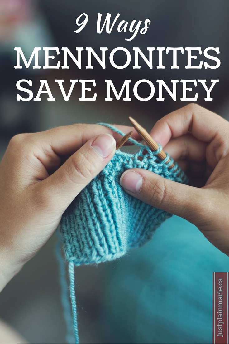 9 simple and easy to implement lessons on saving money from Old Order Mennonites