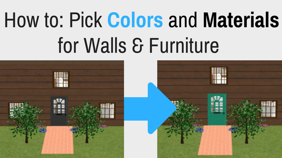 Change Colors And Materials In DreamPlan Home Design Software