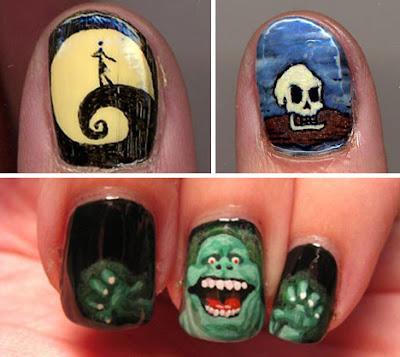diseño de uñas Hallowen