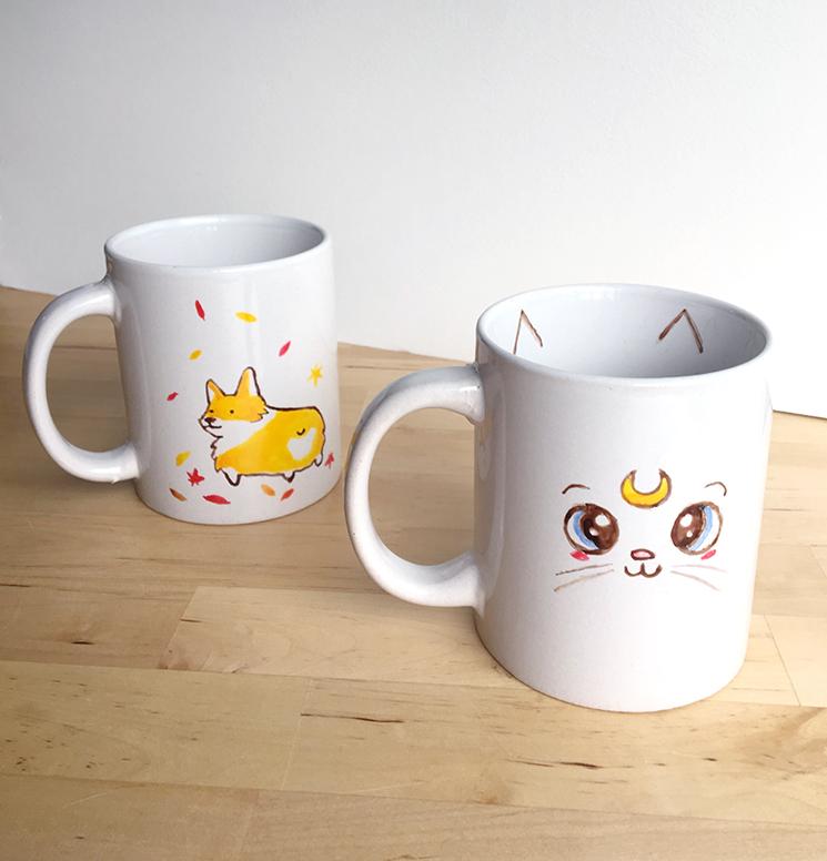 collagepdx: DIY: Hand-painted Mugs