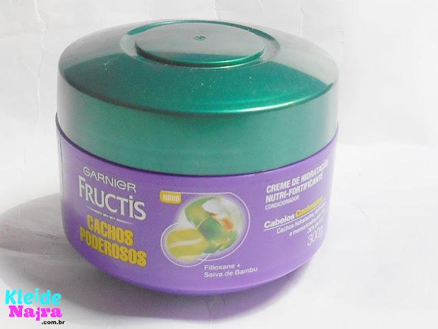 garnier fructis, cachos poderosos, garnier, creme de hidratação cachos poderosos garnier fructis,