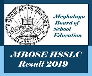MBOSE Result 2019, Meghalaya 12th Result 2019, MBOSE HSSLC Results 2019