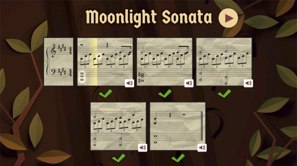 Google Doodles Beethoven's 245 Year Moonlight Sonata