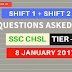 SSC CHSL Tier 1 Exam Questions Asked in 8th January 2017