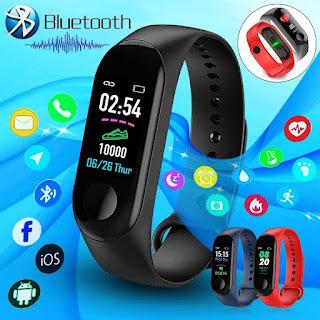 Smartwatch Braccialetto M3 colori