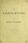 Mathilde Wesendonck: Der Baldur-Mythos. 1875