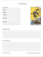 This is 78-page PDF to get you started on your own tarot workbook.