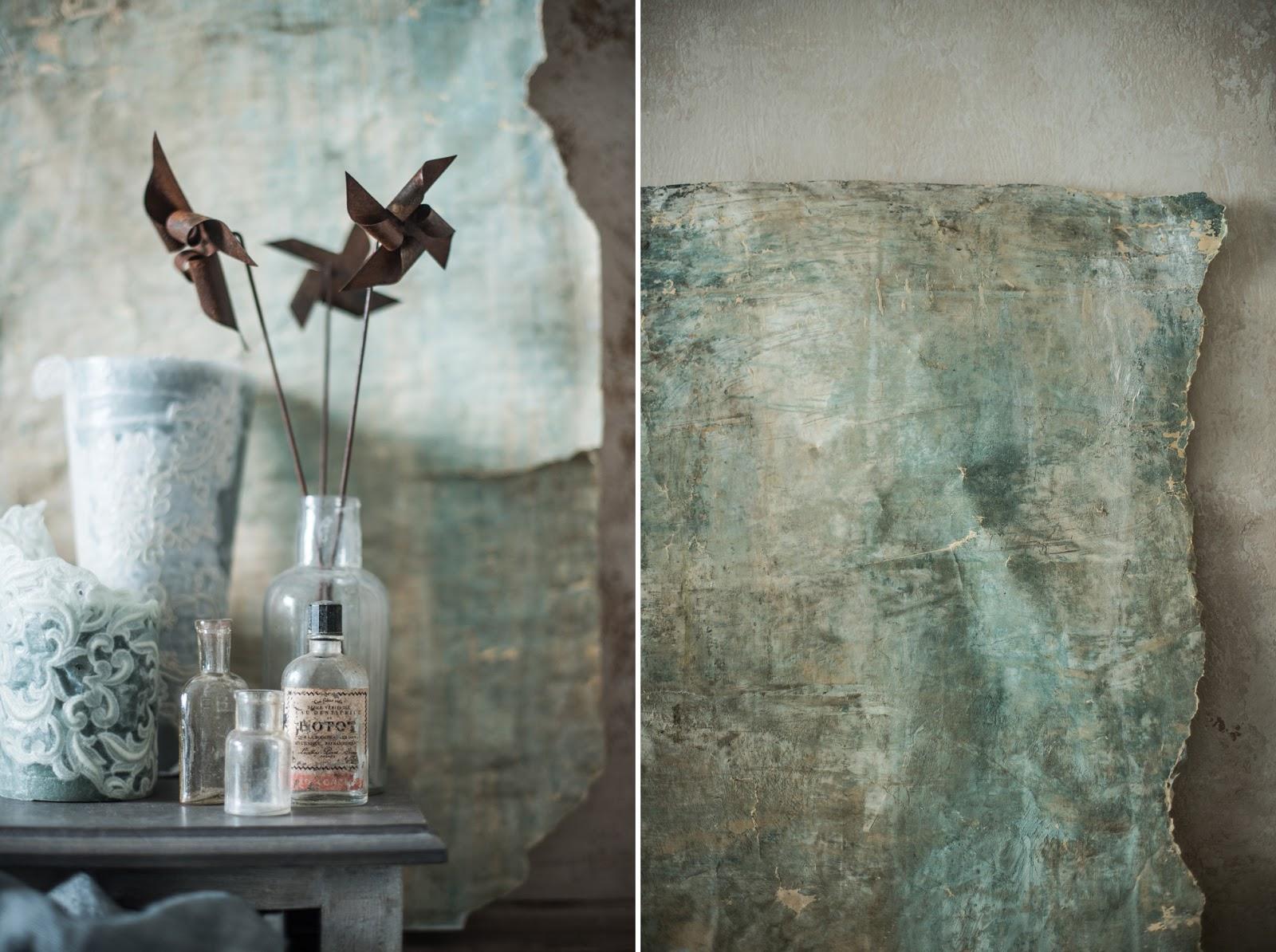 Lettere Da Appendere Al Muro pareti invecchiate ad arte - shabby chic interiors