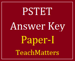 image : PSTET Paper-I Answer Key 2018 @TeachMatters