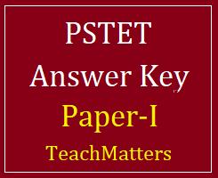 image : PSTET Paper-I Answer Key 2020 @TeachMatters